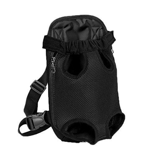 Kaisir Mochila para portador de mascotas, ajustable Cachorros delanteros para perros Bolsa de viaje para mochilas, piernas hacia fuera, fácil para viajar Senderismo Camping