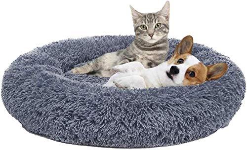 Cama Antideslizante para Perros Hecha de Felpa Suave, Cama Redonda Lavable para Mascotas, Cama Relajante para Perros Medianos y Grandes, Cesta para Dormir, Sofá para Perros