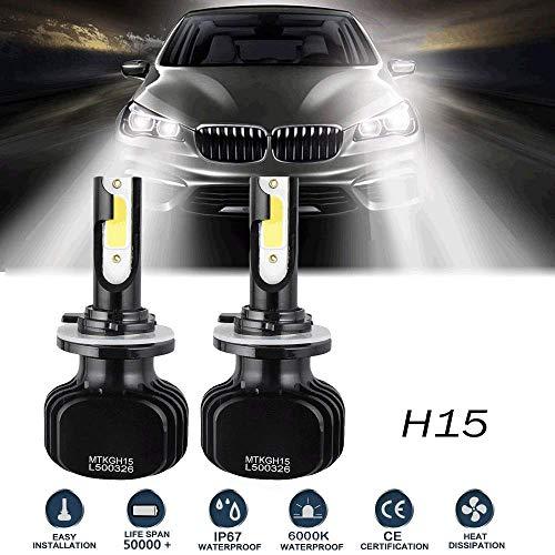 H15 LED Bulbs Conversion Kit High Beam DRL Lamp 200W 20000LM 6000K For Volkswagen Golf 6 7/Touran/Touareg/BMW 220I/Benz GLK/A180/A45 AMG/Audi A3/A6