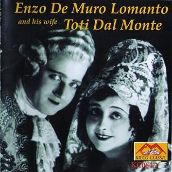 Enzo De Muro Lomanto and His Wife Toti Dal Monte