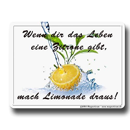 GUMA Magneticum 6115 koelkastmagneet spreuken citroenen Limonade Humor Poesie
