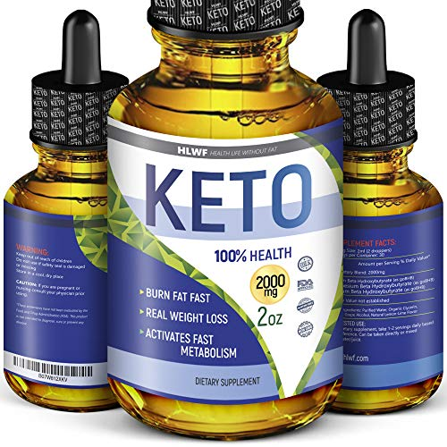 Keto Drops Weight Loss - Best Diet Drops for Fat Loss - Keto Diet Drops - Effective Appetite Suppressant & Metabolism Booster - Made in USA - Exogenous Keto BHB Supplement for Women and Men 2oz