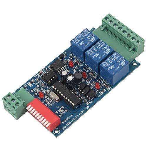 ACAMPTAR 3 Kanal 5A DMX512 Kontrollierter Relais Schalter Kit DIY Konverter DMX Dimmer Relais