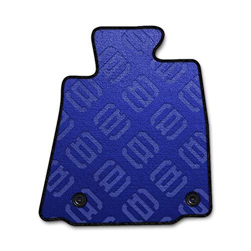 DAD ギャルソン D.A.D エグゼクティブ フロアマット TOYOTA (トヨタ) TANK/ROOMY タンク/ルーミー M900A/910A 年式H28/11~1台分 モノグラムデザインブルー/オーバーロック(ふちどり)カラー : ブラック/刺繍