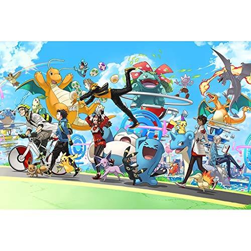 UOPMT-a Puzzle Infantil, Historieta del Anime japonés de Juguetes educativos Pokémon 300/500 / 1000P 0325-P (Color : B, Size : 1000p)