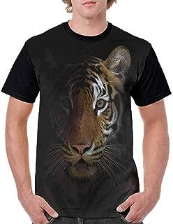 BlountDecor Cotton T-Shirt,Bengal Feline Hunting Fashion Personality Customization