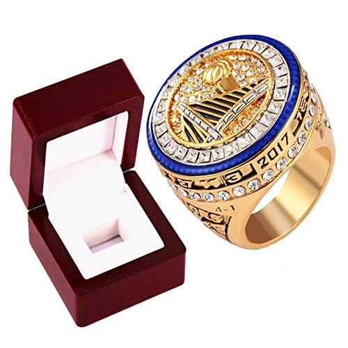 Golden State Warriors Championship Rings, 2017 Kevin Durant Champion Ring Basketball Réplica personalizada anillos de diamantes para hombres, tamaño 8 ~ 14 con caja-11