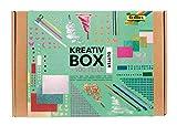 folia 937 - Kreativ Box 'Glitter Mix', über 900 Teile, glitzernder, bunter Materialmix zum phantasievollen und kreativen Basteln, Dekorieren und Verzieren