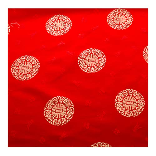 yankai Brokatstoff Mit Chinesischer Blumen-Stickerei, Brokat Satin Satin Tang Kleid Cheongsam Abendkleid Seide Seide Stoff Breite 1,5M NIU