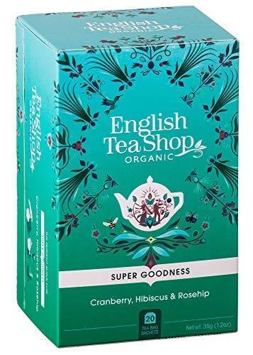 English Tea Shop Infuso Biologico a Base di Mirtillo Rosso, Ibisco e Rosa Canina - 1 x 20 Bustine di Tè (35 Grammi)