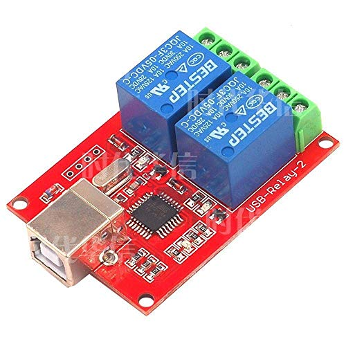 ZXG 2 Wa 5V Rela Module USB Control Switch Computer Control Switch Scientific Experiment Module (Size : 5v)