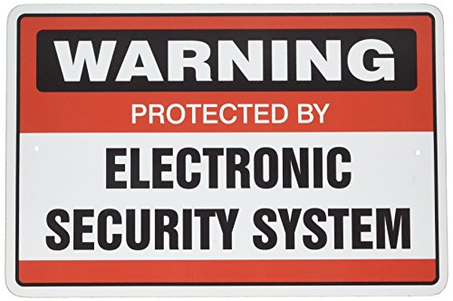 SignMission Security Surveillance Signs 1 Sign & 3 Free Decal Video | Indoor/Outdoor | Business, Garages, Home, Offices Wall Plaque