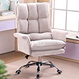 HQBL Ergonomic Adjustable High Back Recliner,Dutch Fleece Home Office Chair,360° Swivel Soft Seat with Padded Arm,for Computer Game/Executive/Rest