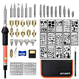 Wood Burning Kit Woodburning Tool with Soldering Iron INTLMATE 54 PCS Woodburner...