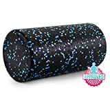 "Prosource Fit High Density Speckled Black Foam Rollers, 12"",18"",24"",36"" for Myofascial Release, Pilates, Trigger Point Massage and Muscle Therapy"