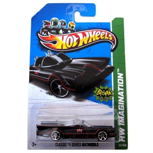 Hot Wheels - Classic TV Series BATMOBILE (Black w/Red thin Stripes & 'Red Batman Logo') - HW Imagination 2013 - 62/250 [Scale 1:64]