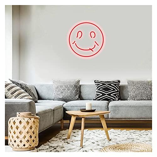 Ideal Custom Shop Luz de neón de Cara Sonriente Personalizada, letreros de Arte Visual con luz led Flexible a Prueba de Agua (con Regulable) El Color y el tamaño se Pueden Personalizar