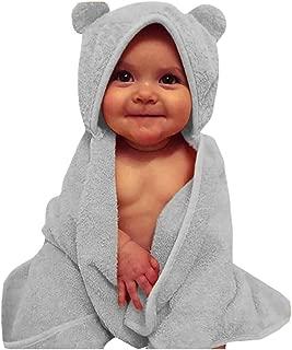 SUPPION Newborn Baby Boys Girls Solid Color Hooded Flannel Bathrobes Towel Fashion Comfortable Bathrobes