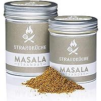Strandküche Strandby Masala 70 g I Mezcla Hindú Bio cilantro mezclado con alcaravea pimienta canela clavo de olor cardamomo laurel citrico I Especia asiático perfecta para cocinar en el Wok