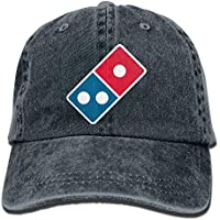 Cowboy Hat Domino Acirc sbquo Not;s Pizza Logo Plain Adjustable Denim Cap for Women and Men