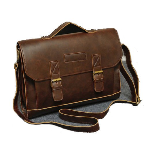Men's Business Tote Retro Briefcase Shoulder Messenger Bag Laptop Bag satchel handbag for men (2 type 3 Color) | Geek
