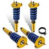 MOSTPLUS Coilover Compatible with 1986-1992 Toyota Supra Hatchback 3.0L MK3 MA70 GA70 JZA70 Adjustable Height Suspensions Lowering Struts Kits (Set of 4)