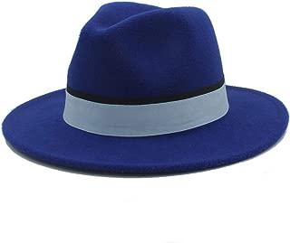 SHENTIANWEI Men Women Winter Fedora Hat with Cloth Belt Pop Wide Brim Church Fascinator Hat Casual Wild Jazz Hat Size 56-58CM