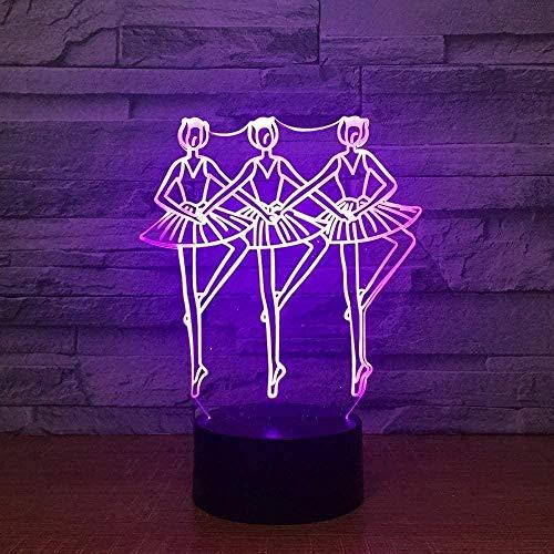 Lampe d'illusion 3D Fox Step LED lampe de décoration de chambre à coucher, 7 couleurs changeantes tactile veilleuse pour bébé chambre décoration enfants cadeau