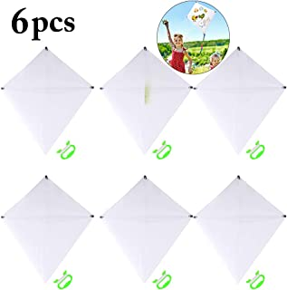 Fansport Kite for Kids Diamond Kite DIY Creative Kite for Outdoor Games and Activities, Flying Blank Painting Kite with Swivel and Line (6PCS)