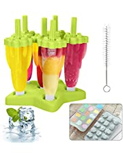 MMTX Ice Lolly Moulds, 6 Pack Moulds Set Ijslolly Makers Ijs Herbruikbare Frozon Popsicle Moulds