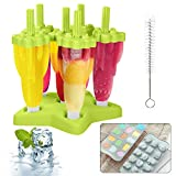 MMTX Molde para helado de paletas, Juego de Moldes Fabricantes de Paletas de Hielo, Moldes de Silicona de Hielo DIY Frozon para Niños, Bebés y Adultos (Verde)