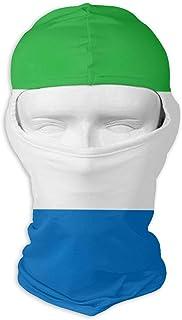 Pañuelo de protección solar Sombreros Máscara de esquí Bandera de Sierra Leona Protección solar UV Protección contra el polvo Máscara facial resistente al viento para correr Ciclismo Pesca Moda8