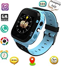 Benobby Smart Watches, Watches for Kids with GPS, Children Tracker Watches Feature Real Time Positioning/SOS Emergency Alarm/Voice Messages, Kids Wrist Watches, The Best Birthday Gifts Ever(Blue)