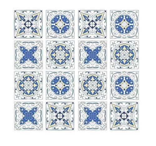 WENKO Herdabdeckplatte groß Fliesen, Herdabdeckung für Glaskeramik-Kochfelder, Gehärtetes Glas, 56 x 50 cm cm, mehrfarbig
