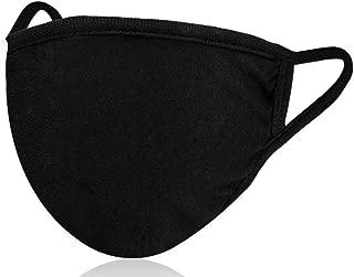 1 Pack Unisex Mouth Mask Adjustable Anti Dust Face Mask,Black Cotton Mouth Mask Muffle..