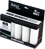 axus décor - mini rulli in schiuma, confezione da 10, colore: bianco