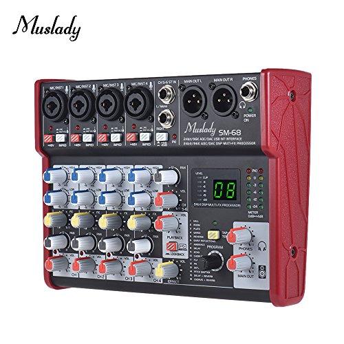 Kalaok SM-68 Mezclador de consola de mezcla de tarjeta de sonido...