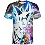 D-ragon-B-All-Z Su-per Sai-yan Black Go-ku T-Shirt 3D Print Realistic, Summer T-Shirt Fashion Cool Short Sleeve Top for Men