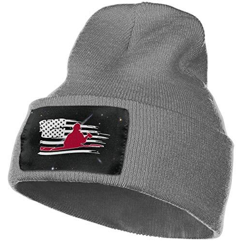 iuitt7rtree Warme Wollmütze für Damen und Herren, 100% Acryl, Säure, Feuerwehrmann, Rot, USA Flagge, Strumpfmütze 15722