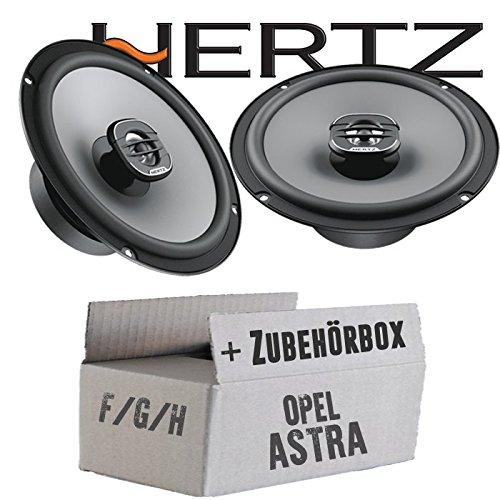 Lautsprecher Boxen Hertz X 165-16cm Koax Auto Einbauzubehör - Einbauset für Opel Astra F,G,H - JUST SOUND best choice for caraudio
