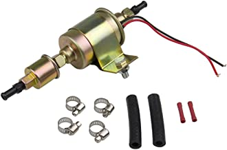 Universal Electric Fuel Pump 30Gph 12V E8012S for Carburetor Petrol & Diesel Vehicles with Installation Kits (5-9 Psi Round)