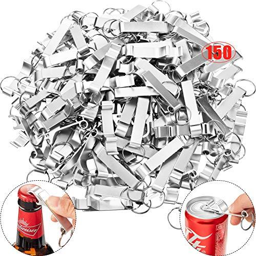 150 Paquetes Llavero de Plata de Abrebotellas de Aluminio Abridor de Cerveza Abridores de Favores de Fiesta de Boda Personalizada