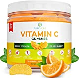 Vitamin C Gummies for Adults & Kids (3 Month Supply) Double Strength Immune Support - Low Sugar, Chewable, Vegan, Gelatin Free, Gluten Free Booster Supplement Replaces Capsules, Pills, Tablets & Syrup