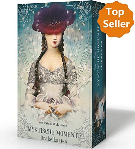 Mystische Momente (Oracle of Mystical Moments). Dekorative Box mit Silberprägung, 52 Inspirationskarten und Booklet, ca. 60 Seiten