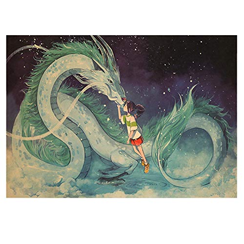Haushele OFD Anime Spirited Away Classic Cartoon Movie Poster Dekorative Malerei Bar Schlafzimmer Home Party Thema Dekoration Poster(H03)