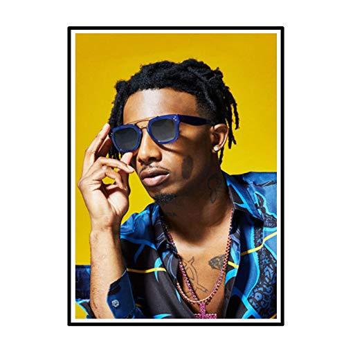 Swarouskll Playboi Carti Magnolia Hip Hop Poster und Drucke Leinwand Gemälde Bilder an der Wand Musik Kunst dekorativ -50X70cm No Frame 1 PCS