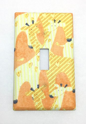 Giraffes Fabric Covered Single Light Switch cover / Switch Plate / Kid's Bedroom / Nursery Decor / Baby Shower Gift / Home Decor / Lighting / Wall Art / Safari