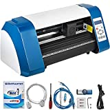 VEVOR Vinyl Cutter 14 Inch Vinyl Cutter Machine 375mm Vinyl Printer Cutter Machine LED Fill Light Strip Vinyl Plotter Cutter Machine Without Stand Signmaster Software