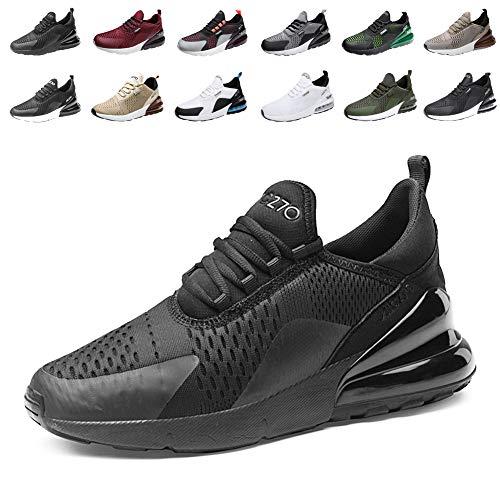 populalar - Scarpe da corsa, da uomo e da donna, scarpe da ginnastica, sneaker traspiranti, per corsa, fitness, palestra, outdoor, leggere., Nero (1 nero.), 38 EU