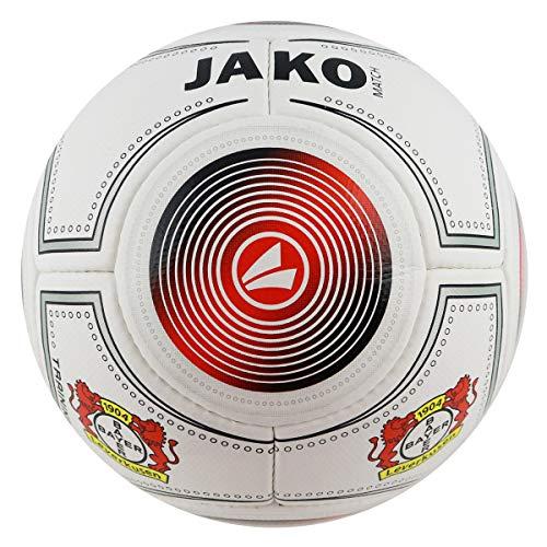 JAKO (Fanball 2324 Bayer 04 Leverkusen Ball, rot/Schwarz, Größe 5